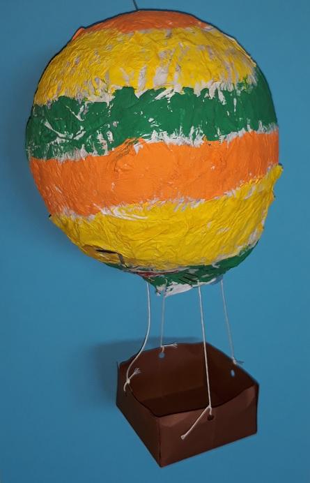 luchtballon van papier-maché knutselen