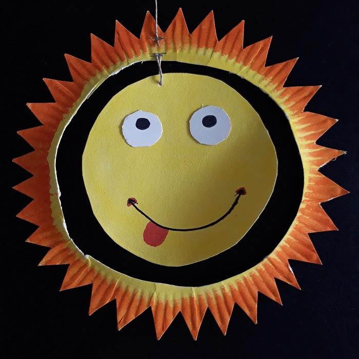 zonnetje wegwerpbordje