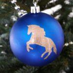 Paarden kerstbal