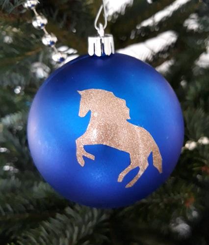kerstbal met paard