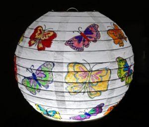 vlinder lampion
