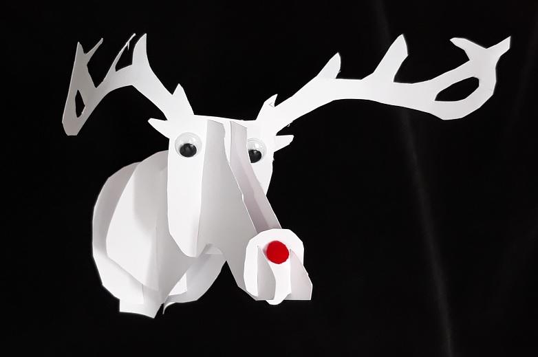 Rudolf rendier knutselen kerst