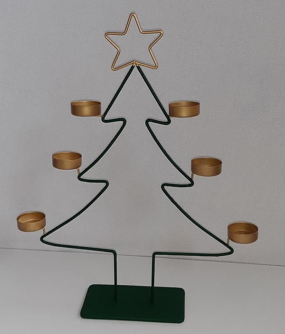 theelichthouder kerstboom