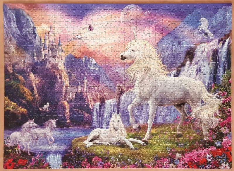 glow in the dark puzzel unicorn